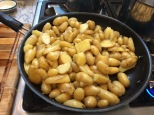saute the potatoes in butter