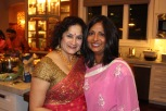 Shalini and I at our Diwali party