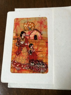 Batik Fabric Card from India