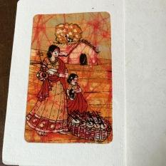 Batik Fabric Card from India