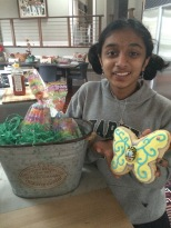 Anjali got a butterfly figolla
