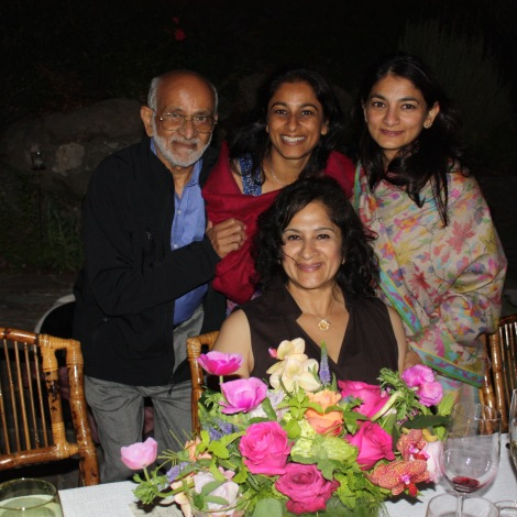 With Dad, Shobha and Banu