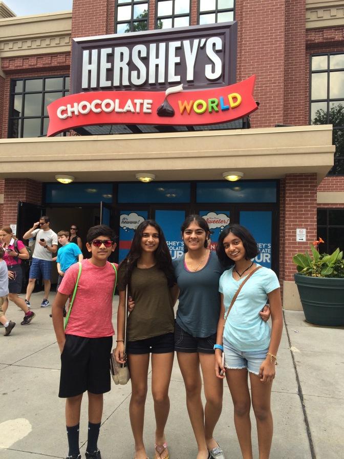Visit to Hershey's Chocolate World in Hershey, Pennsylvania