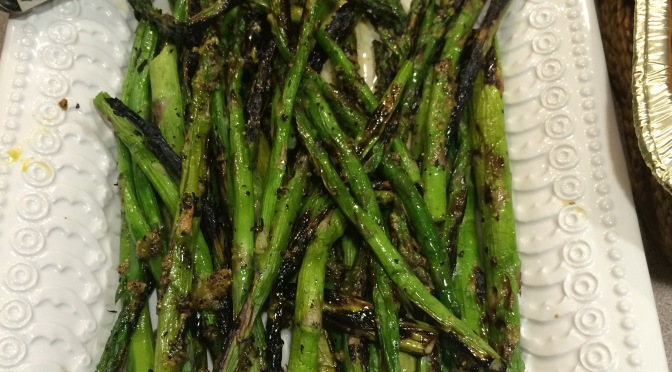Grilled Asparagus with Lemon Seasoning Butter