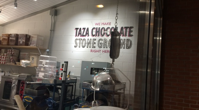 Visit to Taza Chocolate in Sommerville, Massachusetts