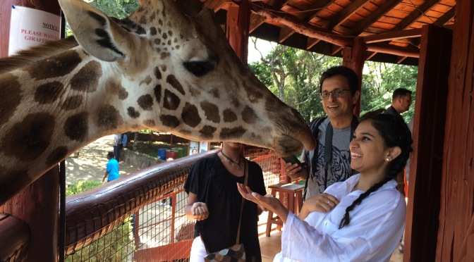 Visit to The Giraffe Centre in Nairobi, Kenya