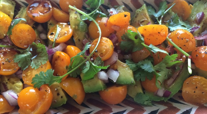 Avocado Salad with Cherry Tomatoes