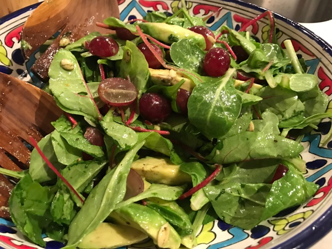 Greens, Grapes and Avocado Salad