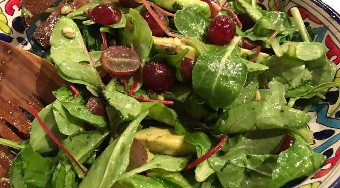 Greens, Grapes and Avocado Salad