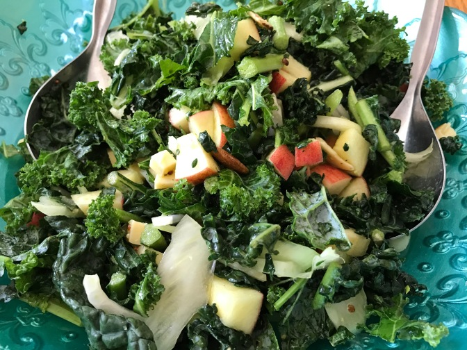 Kale, Fennel & Apple Salad with Dubliner Cheese and Honey Mustard Dressing