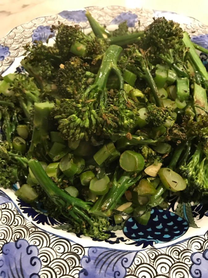 Roasted Broccolini with Garlic & Olive Oil