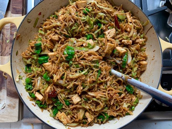 Noodles & Cabbage Stir Fry