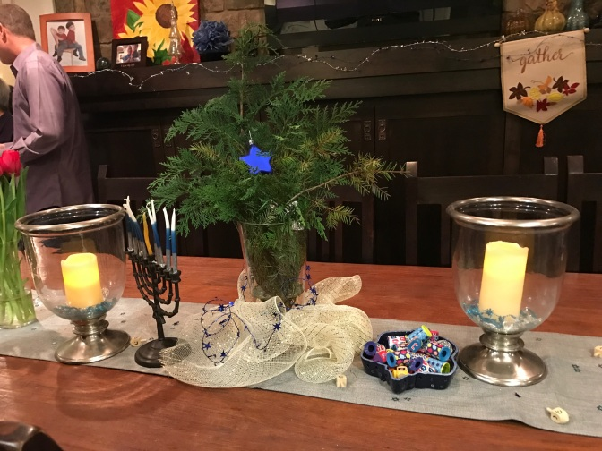 Celebrating Hanukkah with Friends