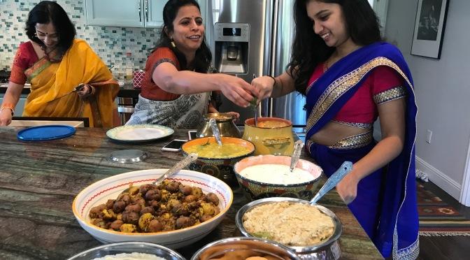 Celebrating the Indian Harvest Festival of Shankranthi. A harvest inspired vegetarian feast.