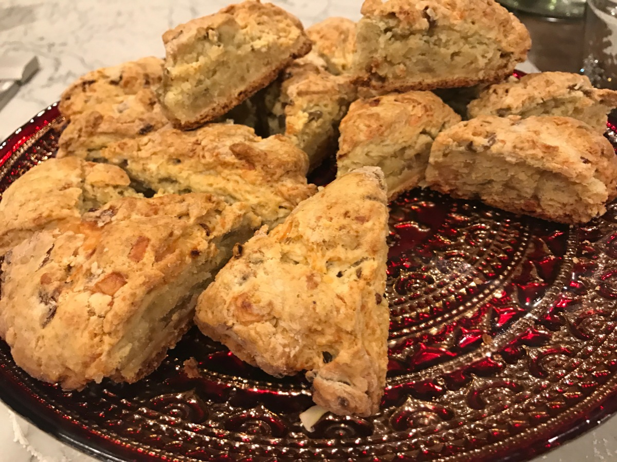 Savory Scones with Caramelized Onions & Sharp Cheddar Cheese