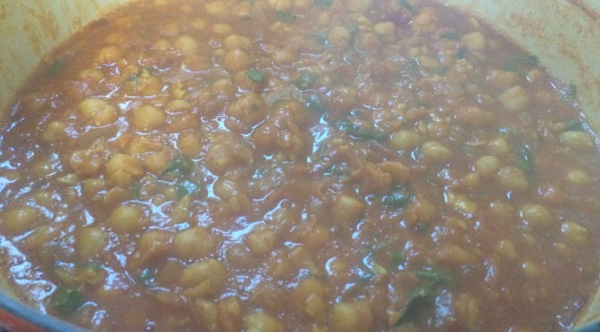 Chole. North Indian Spiced Chickpeas