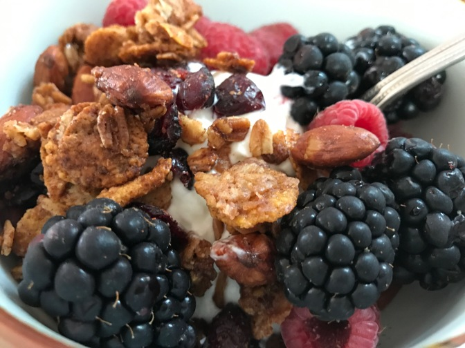 Greek Yogurt, Granola & Berry Parfait