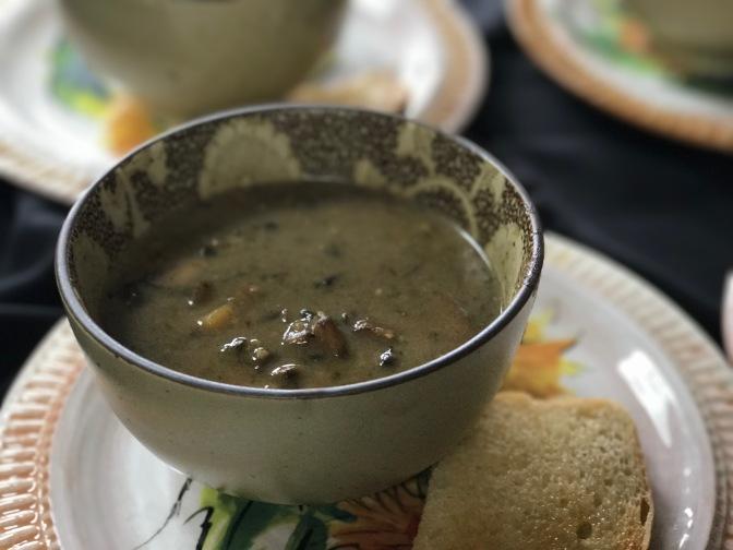Poblano Pepper & Mushroom Soup