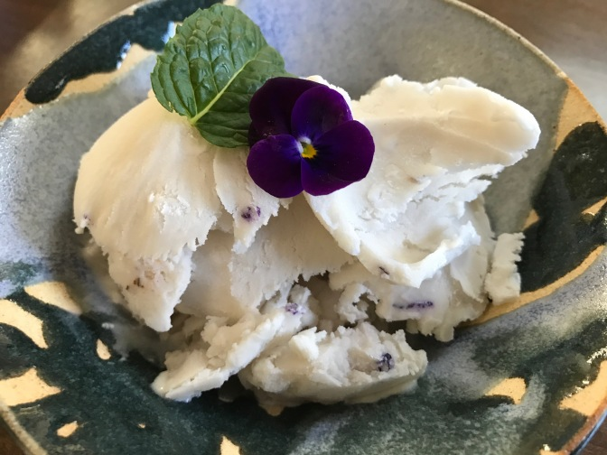 Pansy Blossom Ice Cream