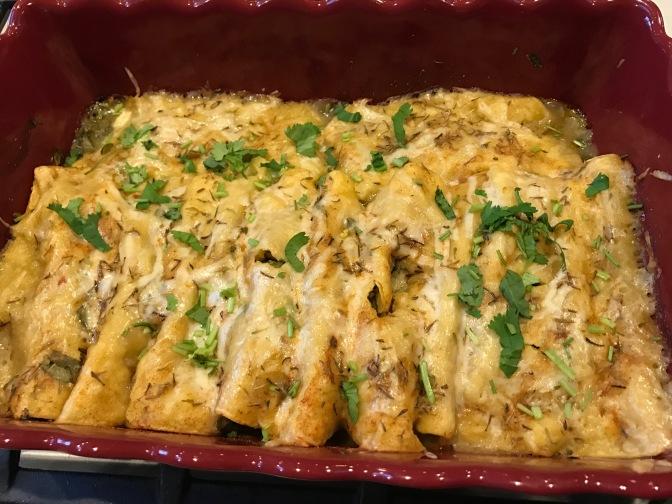 Spinach & Super Greens Cheese Enchiladas