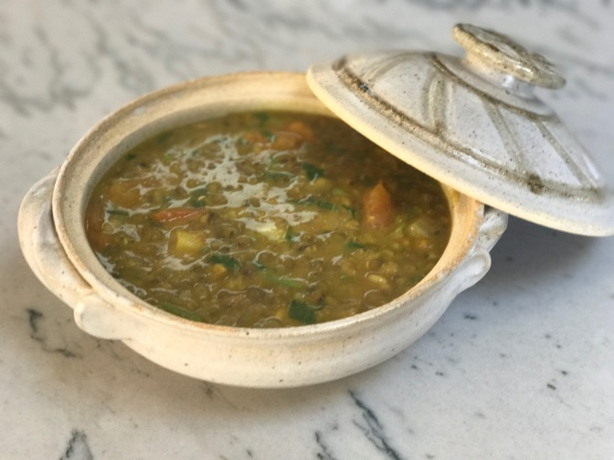 Moong Daal. Moong Bean Lentils Cooked in Indian Spices