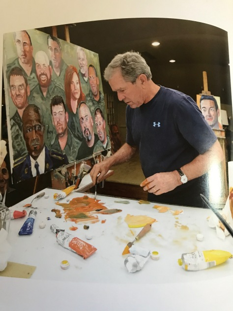 portraits of courage by george w bush a serene  bush attributes the urge to paint after reading winston churchill s essay titled painting as a pastime bush says he figured if winston churchill whom he