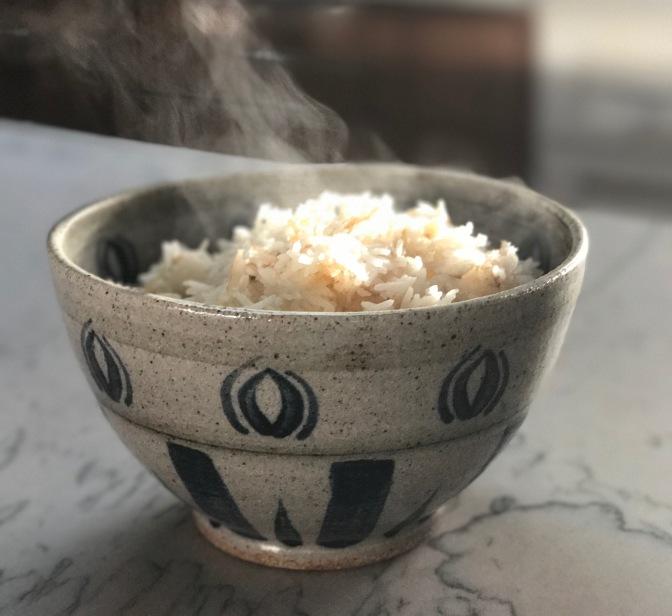 Coconut Rice with Crispy Garlic