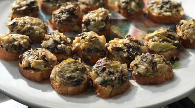 Mushroom and Artichoke Baguette