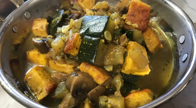 Zucchini Curry with Mushrooms & Paneer
