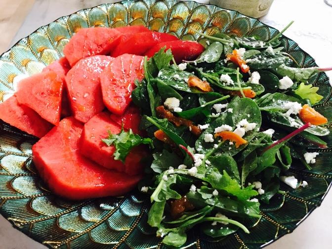 Watermelon Salad with Apricot Vinaigrette