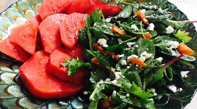 Watermelon Salad with Apricot Vinaigrette