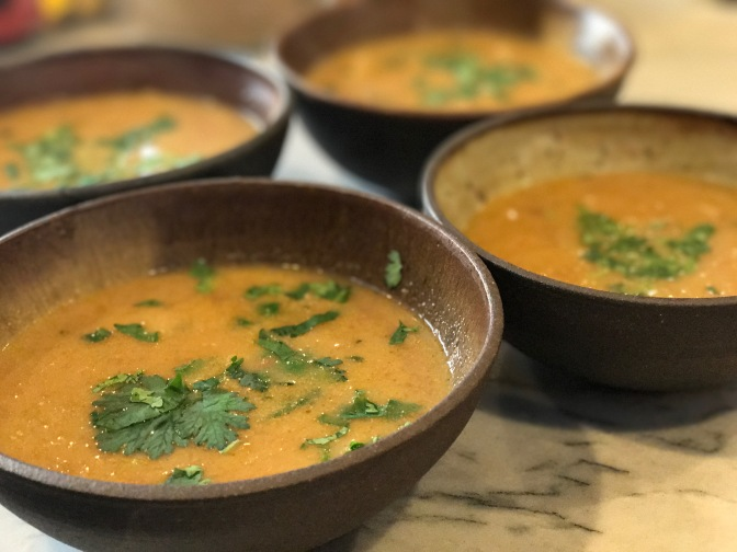 Butternut Squash Soup with Lemongrass and Coconut Milk