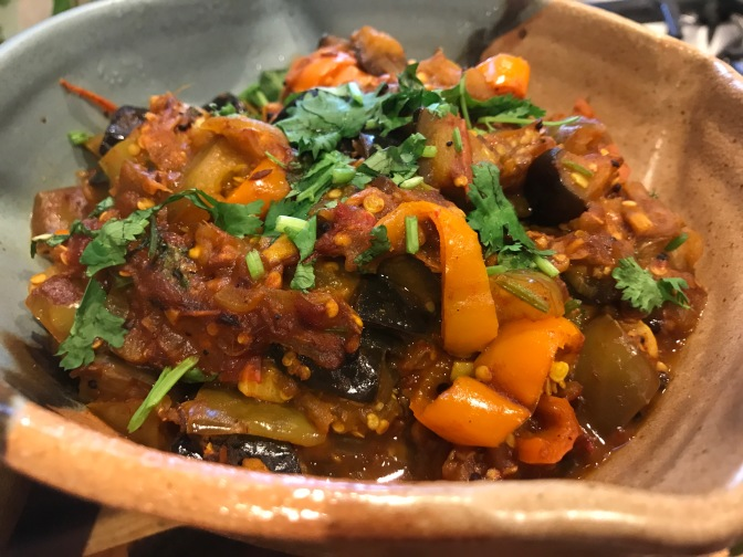 Eggplant and Pepper Curry