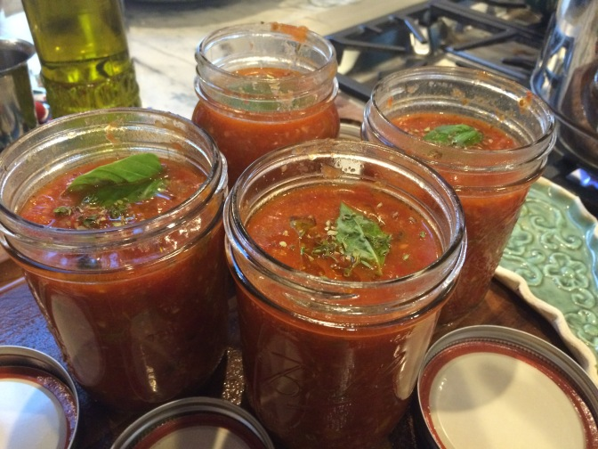 Canning Tomatoes. A Novice's Journey