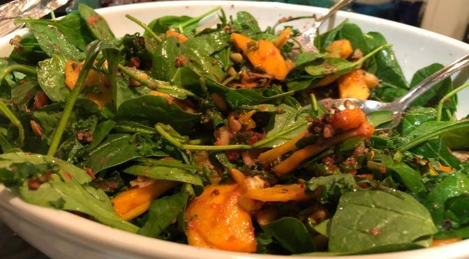 Baby Spinach, Persimmon & Quinoa Salad