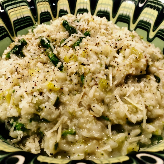 Creamy Asparagus and Leek Risotto