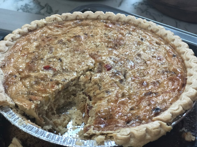 Cauliflower and Caramelized Onion Quiche
