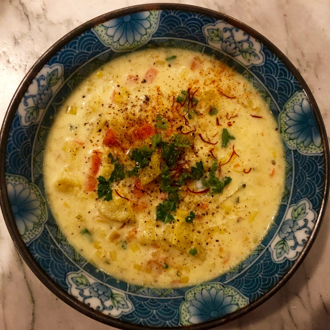 Vegetarian Clam Chowder – Potato Leek Bisque