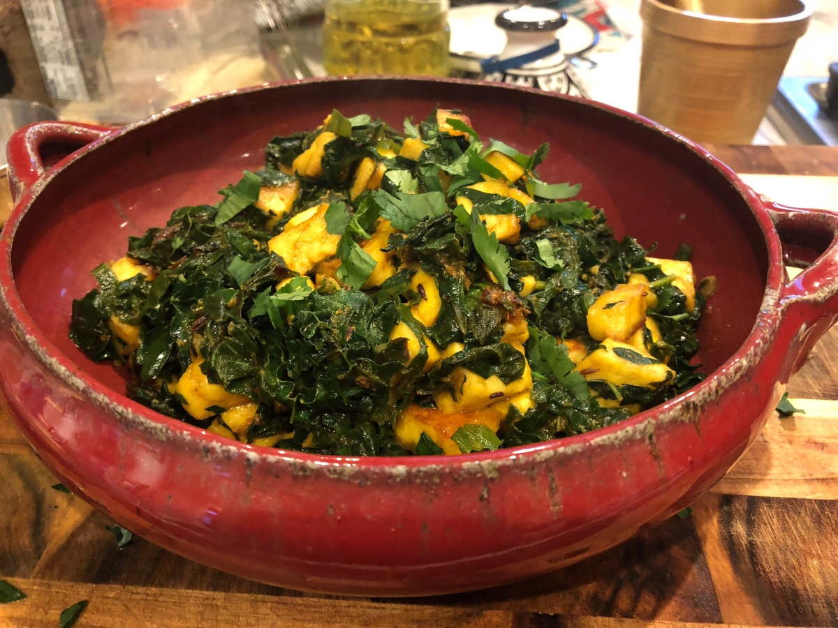 Swiss Chard and Paneer Curry