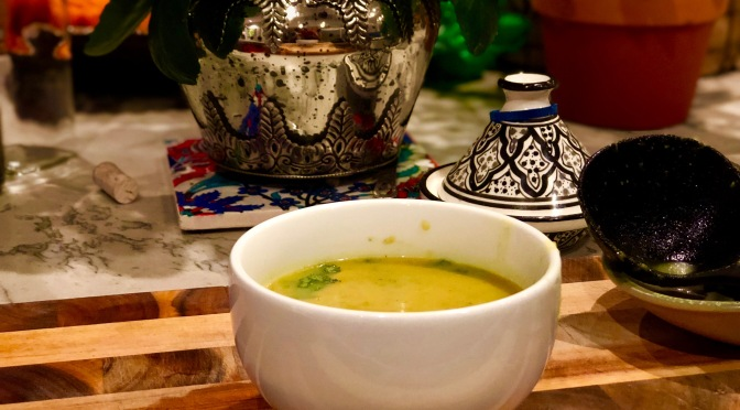 Curried Zucchini Soup with Capsicum & Potato