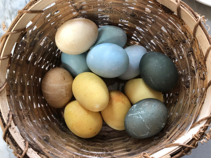 All Natural Colored Easter Eggs