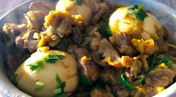 Leek and Mushroom Egg Curry