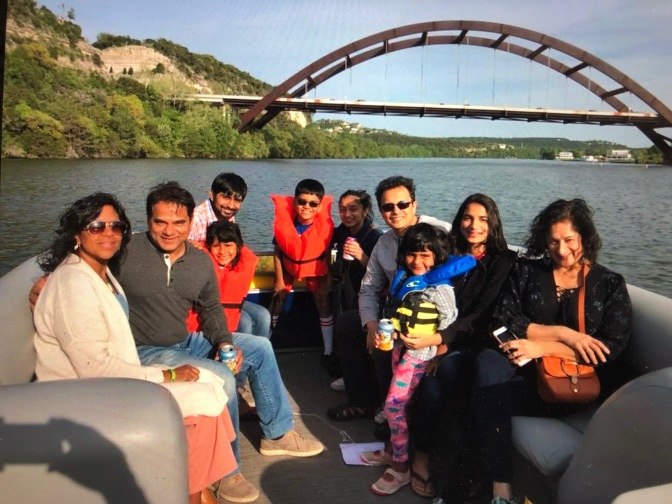 Family Trip Down the Colorado River. Austin, Texas
