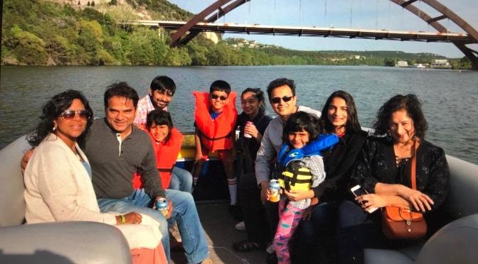 Family Trip Down the Colorado River. Austin, Texas