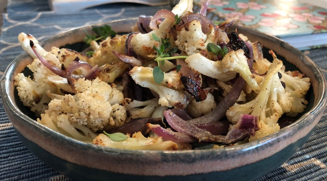 Roasted Red Onion Cauliflower