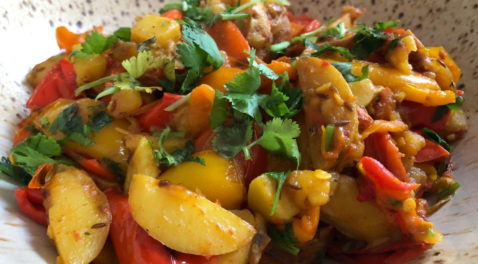 Bell Pepper Potato Curry