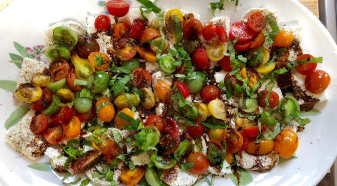 Feta Mozzarella Caprese Salad