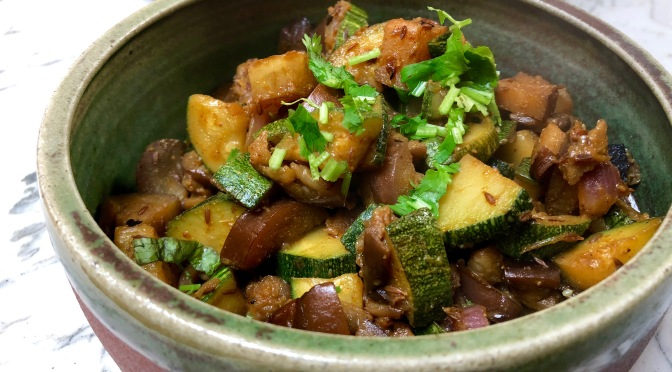 Zucchini Eggplant Stir Fry Curry