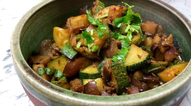Zucchini Eggplant Stir Fry Curry