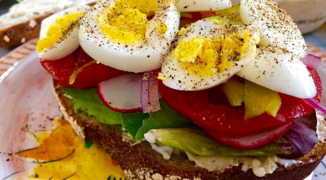 Parisian Inspired Vegetarian Club Sandwich